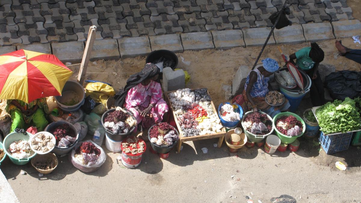mercato merci in esposizione