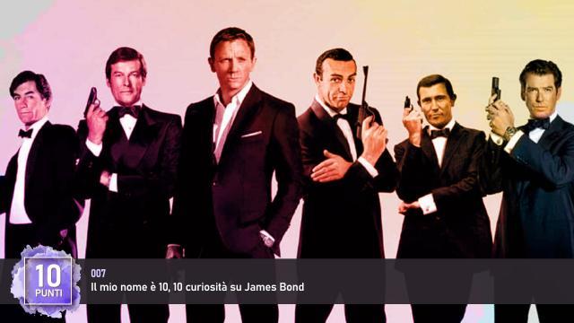 007 - Il mio nome è 10, 10 curiosità su James Bond