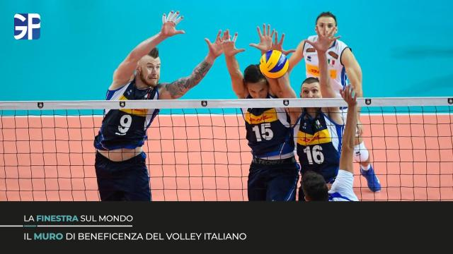 "Il ""Muro"" di beneficenza del Volley Italiano"
